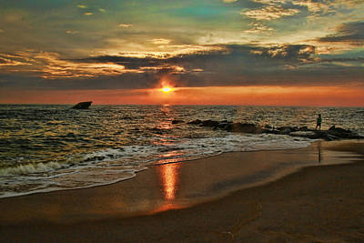 Photograph - Sunset Beach 4 by Allen Beatty