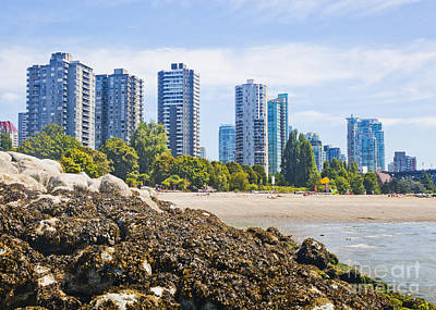 Photograph - Sunset Beach Vancouver by Chris Dutton