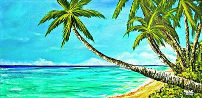 Sunset Beach#370  Art Print by Donald k Hall