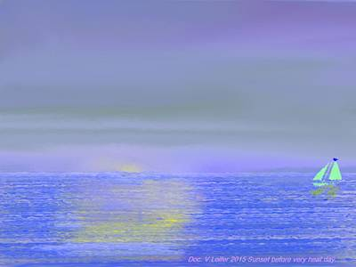 Digital Art - Sunset Before Very Heat Day. by Dr Loifer Vladimir