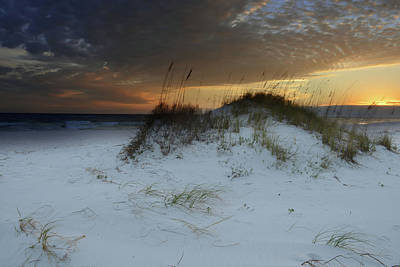 Photograph - Sunset Behind The Sand Dune by Renee Hardison