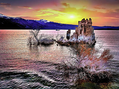 Photograph - Sunset Behind The Tufa by Endre Balogh