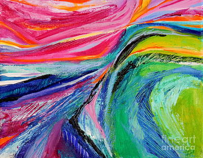 Painting - Sunset Beyond The Hill by Expressionistart studio Priscilla Batzell
