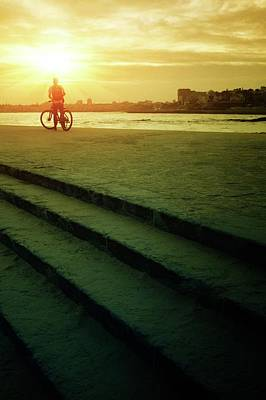 Photograph - Sunset Bicycle Ride by Carlos Caetano