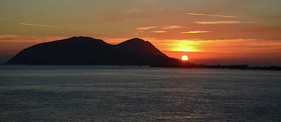 Photograph - Sunset Blasket Island by Barbara Walsh