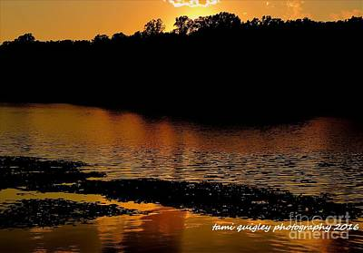 Photograph - Sunset Blazes Hopewell Lake by Tami Quigley