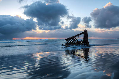 Peter Iredale Photograph - Sunset Blues 0094 by Kristina Rinell