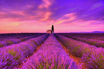 South Of France Photograph - Sunset Blues by Midori Chan