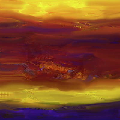 Contemporary Painting - Sunset Blvd by Jane Biven