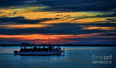 Photograph - Sunset Boat Ride by Dave Bosse