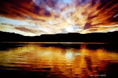 Digital Art - Sunset by Bob Shimer