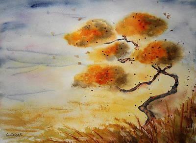 Painting - Sunset Bonsai by Carol Crisafi