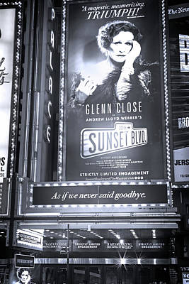 Photograph - Sunset Boulevard Marquee by Mark Andrew Thomas