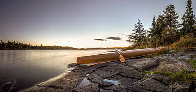 Canoe Photograph - Sunset // Boundary Waters Canoe Area, Minnesota  by Nicholas Parker