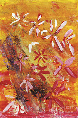 Multi Colored Painting - Sunset Bouquet by Katie OBrien - Printscapes