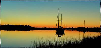 Photograph - Sunset Bowens Island by Steve Archbold