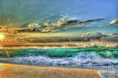 Photograph - Sunset Break Point North Shore Oahu Hawaii Art by Reid Callaway