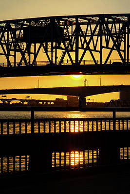 Art Print featuring the photograph Sunset Bridge 2 by Arthur Dodd