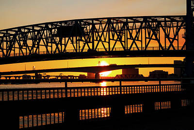 Photograph - Sunset Bridge 4 by Arthur Dodd