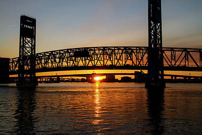 Photograph - Sunset Bridge 5 by Arthur Dodd