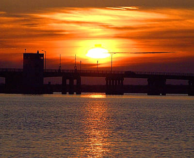 Photograph - Sunset Bridge I I I by  Newwwman
