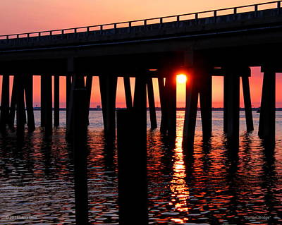 Photograph - Sunset Bridge by Larry Beat
