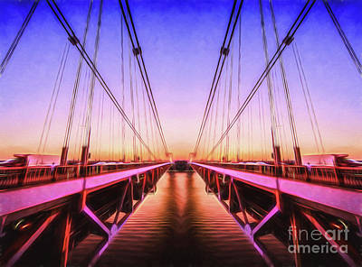 Photograph - Sunset Bridge by Ray Warren