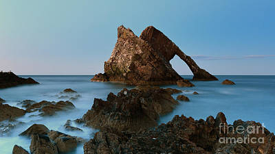 Sunset By Bow Fiddle Rock Art Print by Maria Gaellman