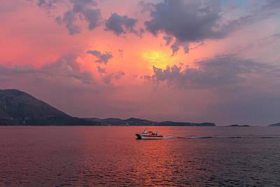 Photograph - Sunset By Summer Holydays At The Sea, Srebreno, Croatia by Elenarts - Elena Duvernay photo