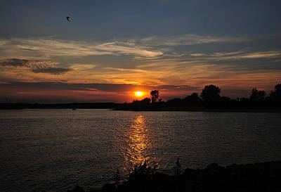 Photograph - Sunset By The Inlet by Angel Cher