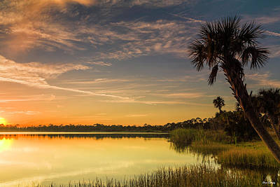 Photograph - Sunset By The Lake by Fran Gallogly