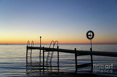 Photograph - Sunset By The Old Bath Pier by Kennerth and Birgitta Kullman