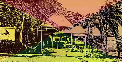 Digital Art - Sunset Cafe by Ian  MacDonald
