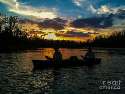 Photograph - Sunset Canoe Expedition by D Wallace