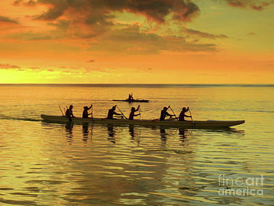 Canoeing Photograph - Sunset Canoeists by Scott Cameron
