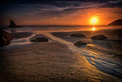 Photograph - Sunset Canon Beach Oregon 2-dsc04319 by Greg Kluempers