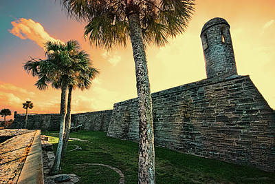 Photograph - Sunset Castillo De San Marcos by Stacey Sather