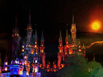 Digital Art - Sunset Castle by Kiki Art