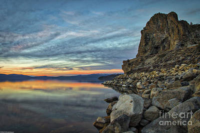 Photograph - Sunset Cave Rock 2015 by Mitch Shindelbower