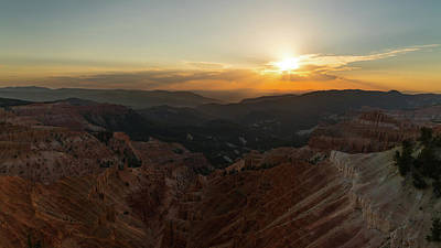 Photograph - Sunset Cedar Breaks National Monument Utah by Lawrence S Richardson Jr