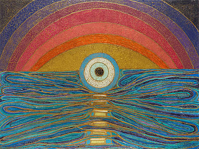 Chakra Rainbow Painting - Sunset Chakra by Tabasom  Noorbakhsh