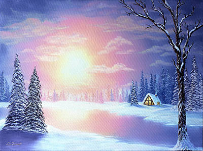 Painting - Sunset Chalet by Lori Grimmett
