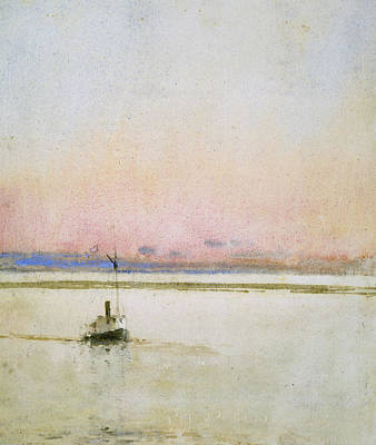 Mist Painting - Sunset by Childe Hassam
