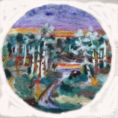 Tapestry - Textile - Sunset by Christine Lathrop