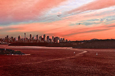 Photograph - Sunset City by Miroslava Jurcik