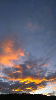 Photograph - Sunset Cloud Scape Over Bryson City Nc by Kelly Hazel