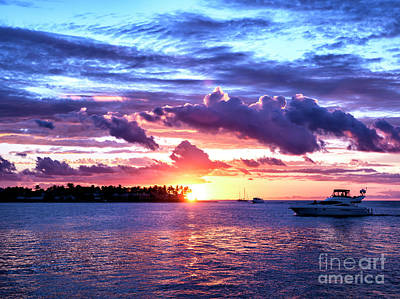Photograph - Sunset Cloud Shapes In Key West by John Rizzuto