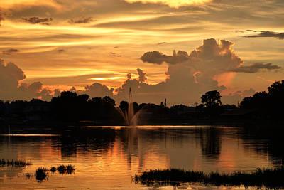 Photograph - Sunset Cloud Work by rd Erickson