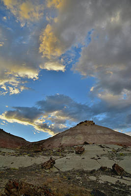 Photograph - Sunset Clouds Above Bentonite Hills In Grand Junction by Ray Mathis