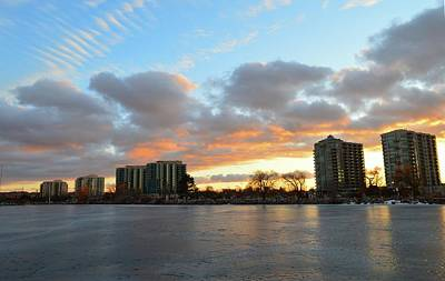Photograph - Sunset Clouds And Towers by Lyle Crump